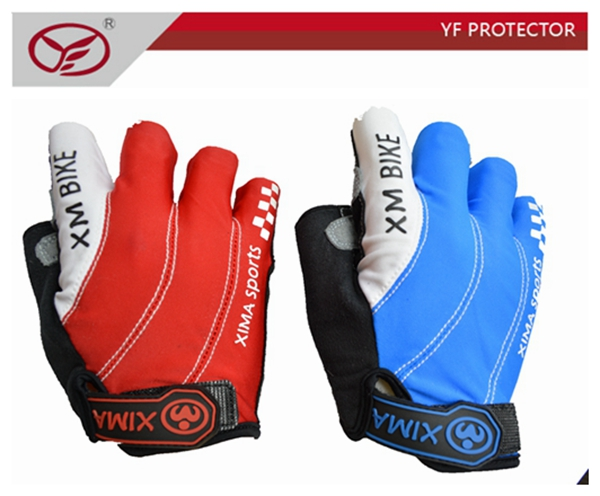 Breathable short finger cycling gloves Leather Mountain Bike Glove