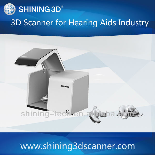 3D scanner for hearing aid shells, earmoulds, noise protection and soft moulds
