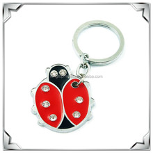Animal metal ladybird key chain