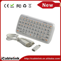 China cheap wireless mini Bluetooth Keyboard with 4000mAh Power Bank Charger for iphone ipad Mobile Phone