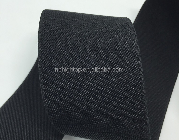 High quality black stripe fabric elastic woven band