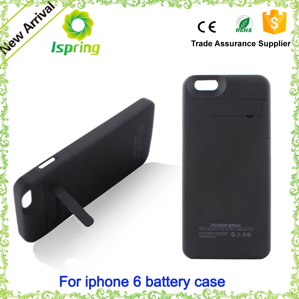 2500mAH External Battery charging Case with Kickstand for iPhone 6