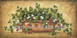 Pure hand-painted oil paintings Fruit Strawberry
