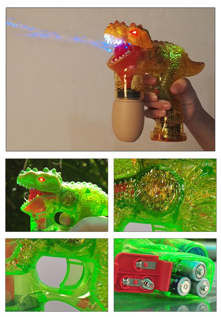 Toy Gun Soap Bubble with LED flash light up sound and bubble water
