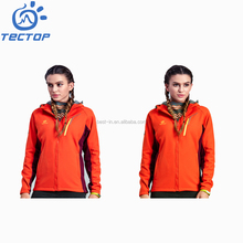 Warm Outer Teflon Fabric Waterproof Softshell Jacket for Womens Winter Hunting Trekking