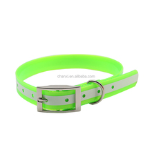 Wholesale illuminated waterproof visible dog collar without rechargeable and replace battery