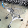 Grocery Shop Use 100L Europe Shopping Trolley With Elevator Wheels