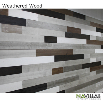 Navilla Reclaimed Weathered Wood Interior Decorative Wall Covering Panels