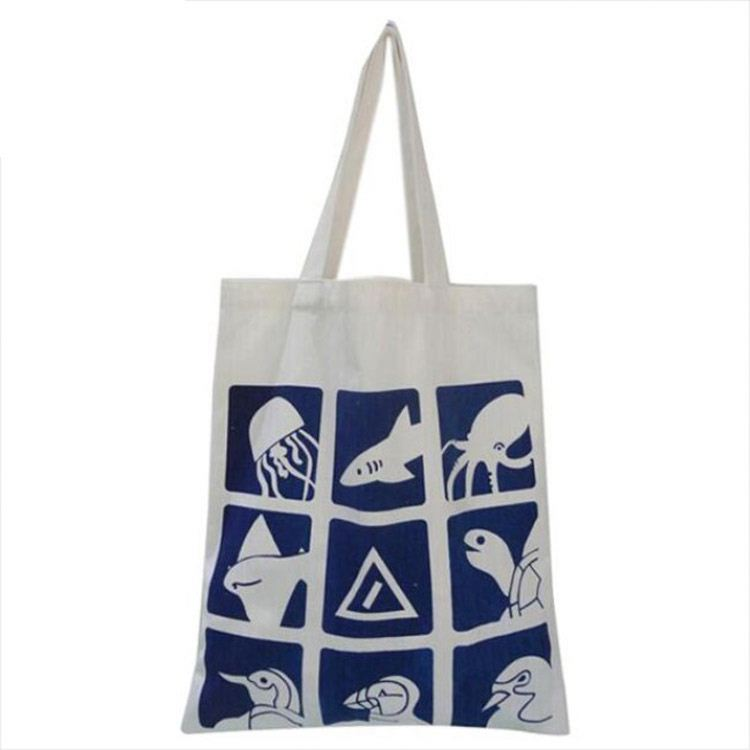 Custom Eco-Friendly Organic Cotton Tote Canvas School Bag