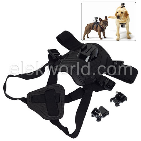 25-in-1 Dog Strap+Chest Straps+Wrist Straps+Mounts+Monopods+Tripod+Suction Cups+Clamps+Floaty Grip+Wrench+Stickers for Gopros