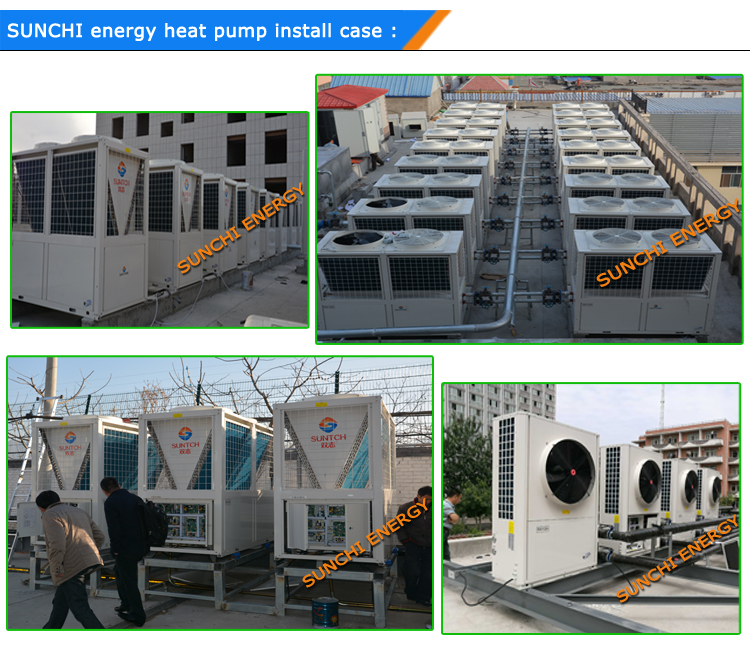 25kW 15kW -25C Winter Low Temp. Floor Heating Ground 10kw Dc Inverter Compressor R410a Evi Heat Pump