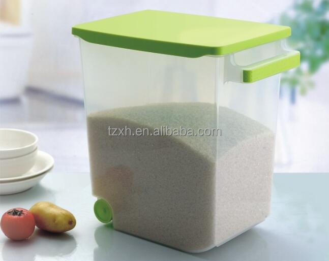 Plastic kitchenware rice bin