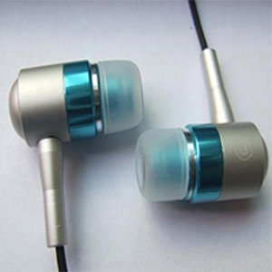 Metallic earphone with micophone for mobile /cellphone accessories