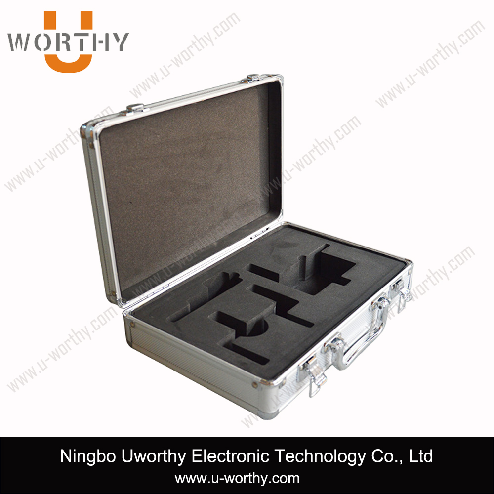 custom size solar testing equipment storage case aluminum carrying hand tool transporting box