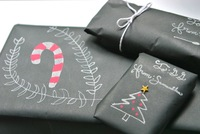 Fashion Black Christmas Wrapping Paper Supplier
