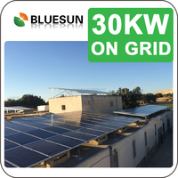 Bluesun professional design low price top seller show the solar system 30kw grid tie system