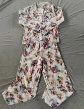 Overstock Clearance Wholesale Cheap Fashion Quilted Floral Women's Pajama Suit