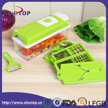 12 PCS Super Slicer Plus Vegetable Fruit Peeler Dicer Cutter Chopper Nicer Grater