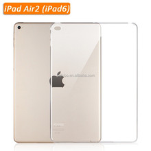 Whole sale factory transparent tablet case custom high quality tpu soft cover for ipad air2 case