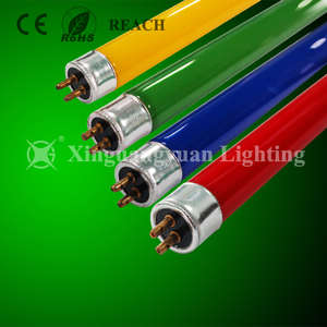 Decorative Colorful T5 4W 6W 8W RGB Fluorescent Tube Light