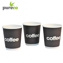 Nature single wall disposable paper cup christmas cheap hot coffee cups