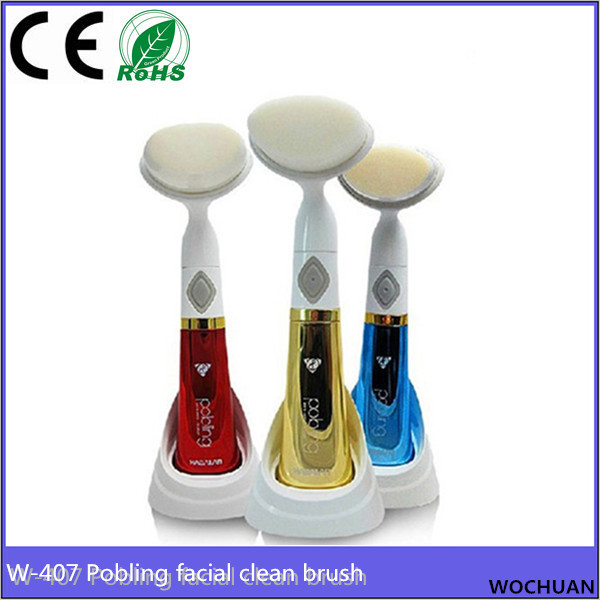 pobling electric vibrating facial cleanser wash skin care device face cleaning brush