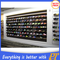 retail store shoe fixture for sports shoes shop design