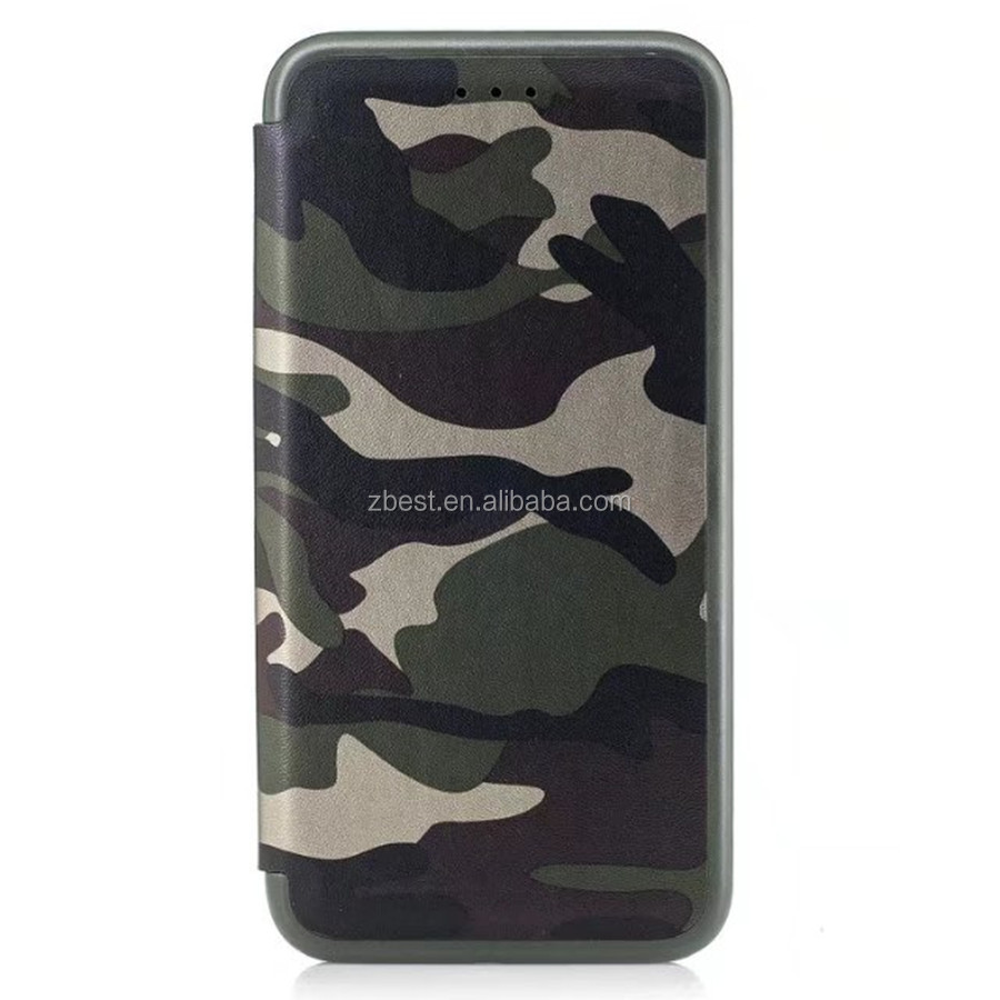 Newest Camouflage PU Leather Case For iPhone Camo Military Stand Holder Wallet Case