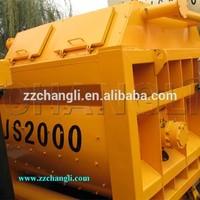 concrete mixer gears with CE certification,JS2000 concrete mixer ,twin-shaft new type concrete mixer machine