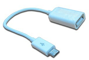 China supplier usb micro host otg cable for samsung galaxy tab