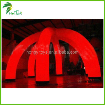 Attractive LED Lighting Inflatable Spider Tent , Inflatable Lawn DomeTent For Events