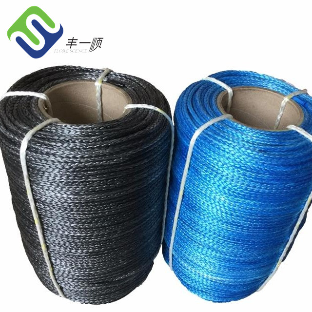 12 strand synthetic UHMWPE rope fishing winch rope