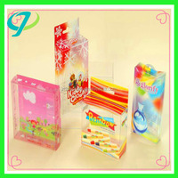 Customized Small hinged clear plastic box used for packing gift