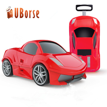 Children cool travel trolley luggage bag PP rolling luggage and travel bag with low MOQ