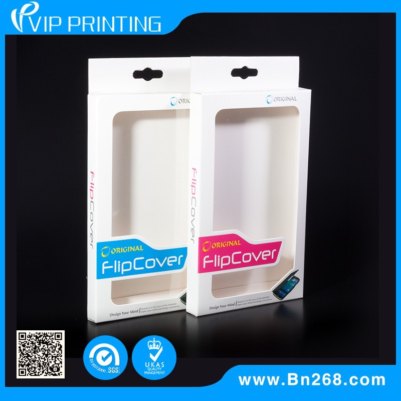 High quality customize logo printed cell phone case paper packaging box