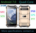 2017 Quad-Core Android 7.0 4G Rugged Smartphone with 2+16G waterproof mobile phone