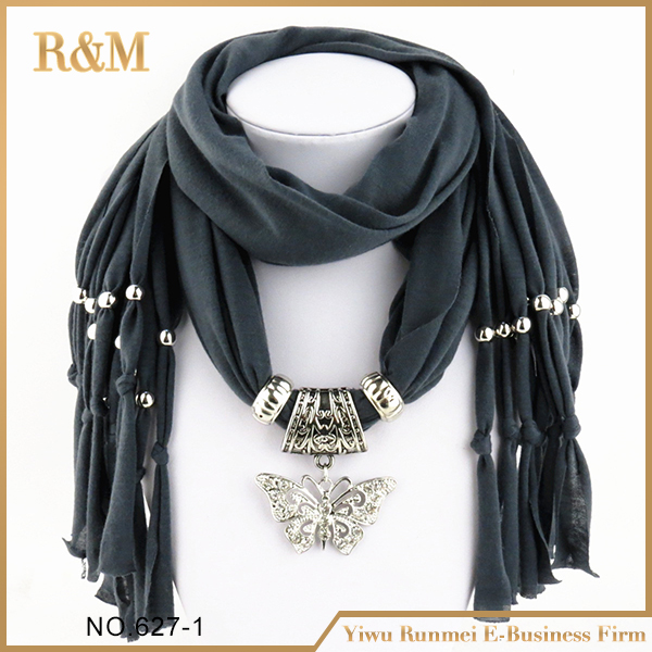 Factory direct sale women <strong>scarf</strong> butterfly jewelry <strong>scarf</strong>