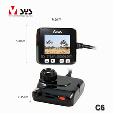 portable mini size camera recorder 2 inch touch key screen hd 720p rear view camera for motorcycle