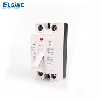 Elsine 2p black and white color matching with pilot lamp mini circuit breaker MCB NT50