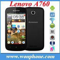 Original Lenovo A760 Quad Core Android 4.1 3G Mobile Phone 4.5inch 5MP Camra