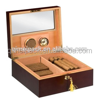 Factory price cigar wooden gift packaging box with window