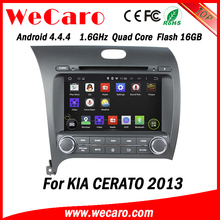 Wecaro WC-KU8051L Android 4.4.4 car stereo 2 din for kia cerato car multimedia audio system A9 cpu 2013 2014
