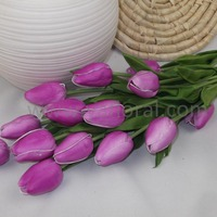 Single artificial long stem small artificial tulips wholesale real touch Purple tulip flower