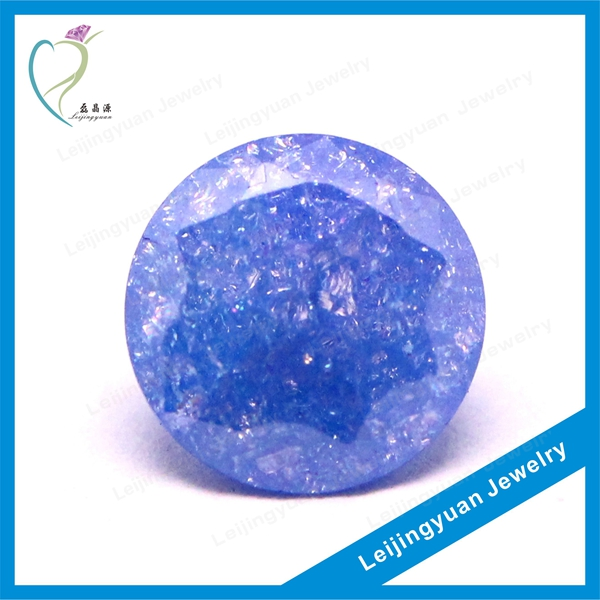 Gorgeous Lavender Wholesale Bead Jewelry Round Ice Cubic Zirconia
