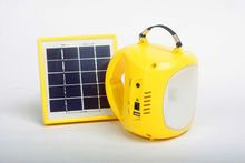1.8w rechargeable camping solar lantern with mobile phone charger for rural