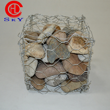 Mesh wire 2.7mm/galvanized gabion basket /gabion wall construction/gabion retaining wall price(factory from shenzhou)