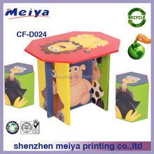 New design paper furniture recycled corrugated cardboard chair&table/desk for kids with uv coating