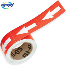 Digital printing UV resistant weatherproof pipe marker labels for industrial pipe