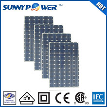 250W mono solar panel generate electricity for wiring