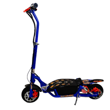 New design lightweight portable one side suspension 300w 24v adult 2 wheels foldable electric scooter